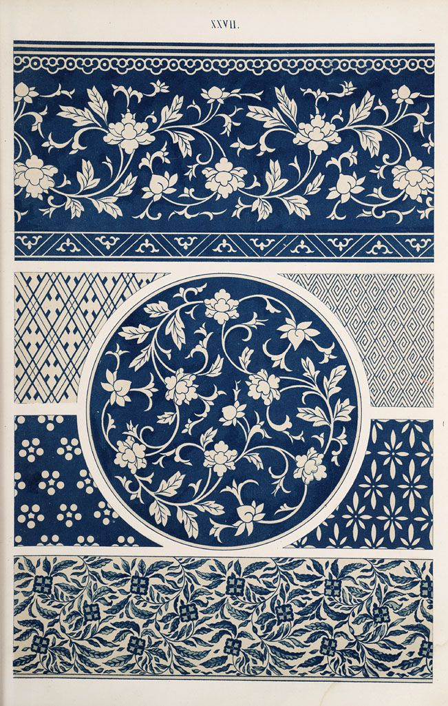 Jones, Owen, 1809-1874. / Examples of Chinese ornament selected from objects in the South Kensington Museum and other collections. (1867)