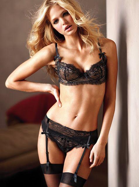 Erin Heatherton Victorias Secret Lingerie ERIN HEATHERTON BOARD - Porte jarretelle victoria secret