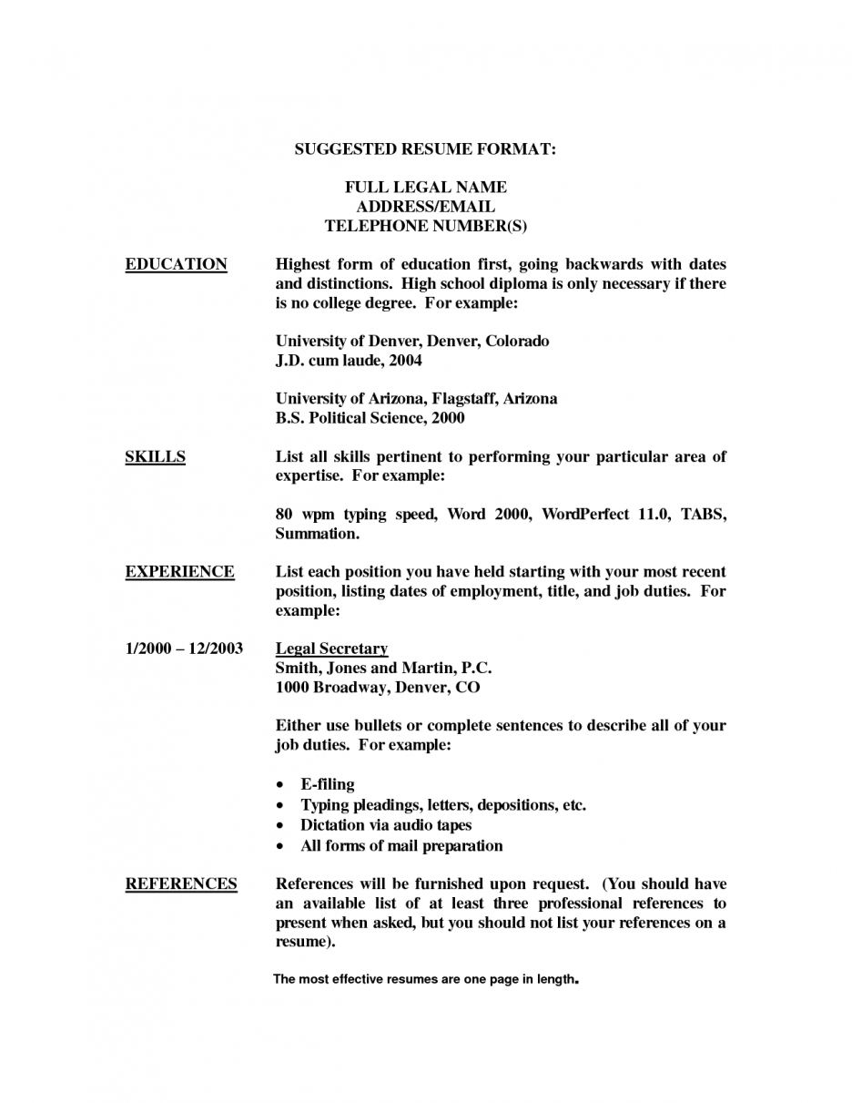 Secretary Resume Templates Cover Letter Sample Secretary Executive Position Resume With