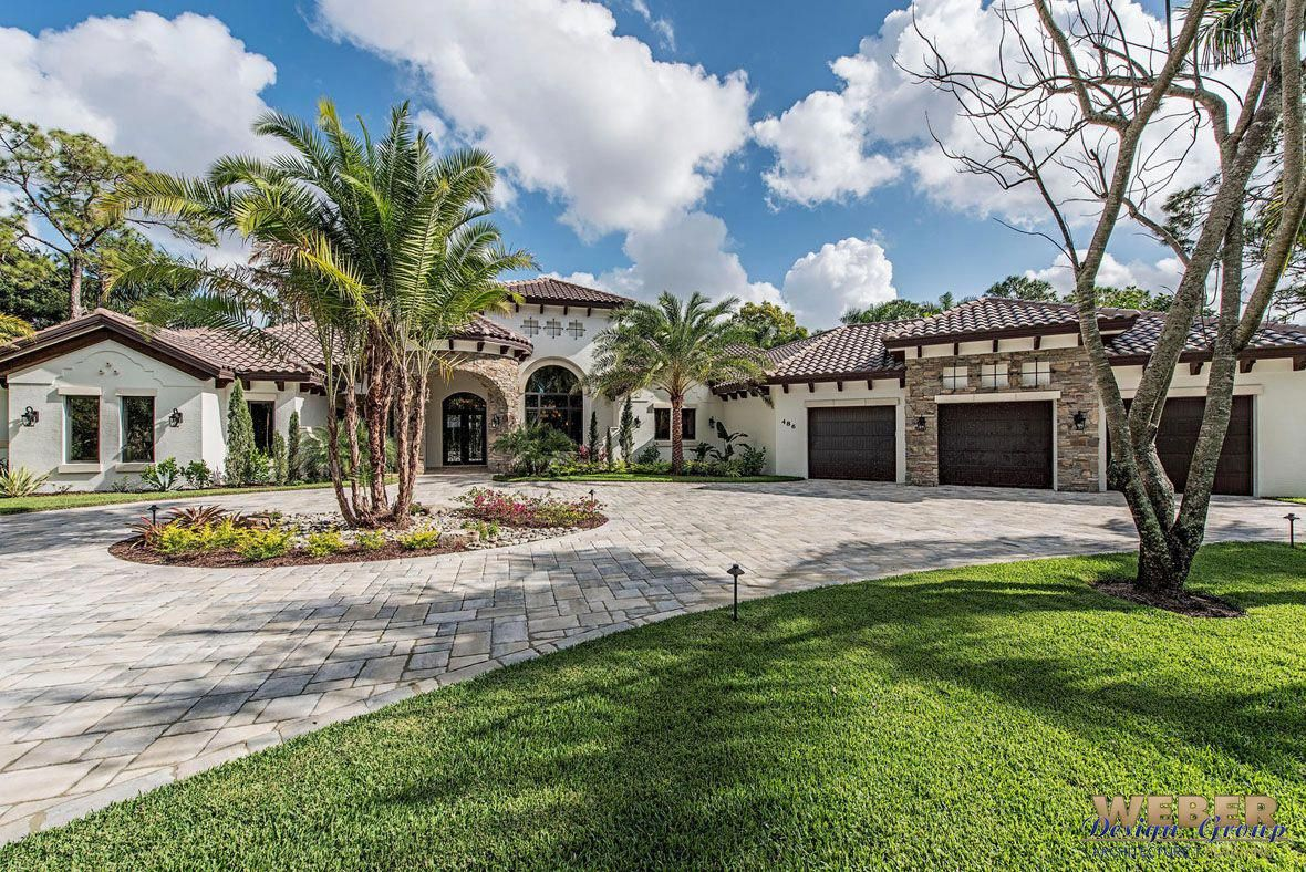 Exterior home design one story  El Sueno Home Plan Spanish and Mediterranean influenced home floor