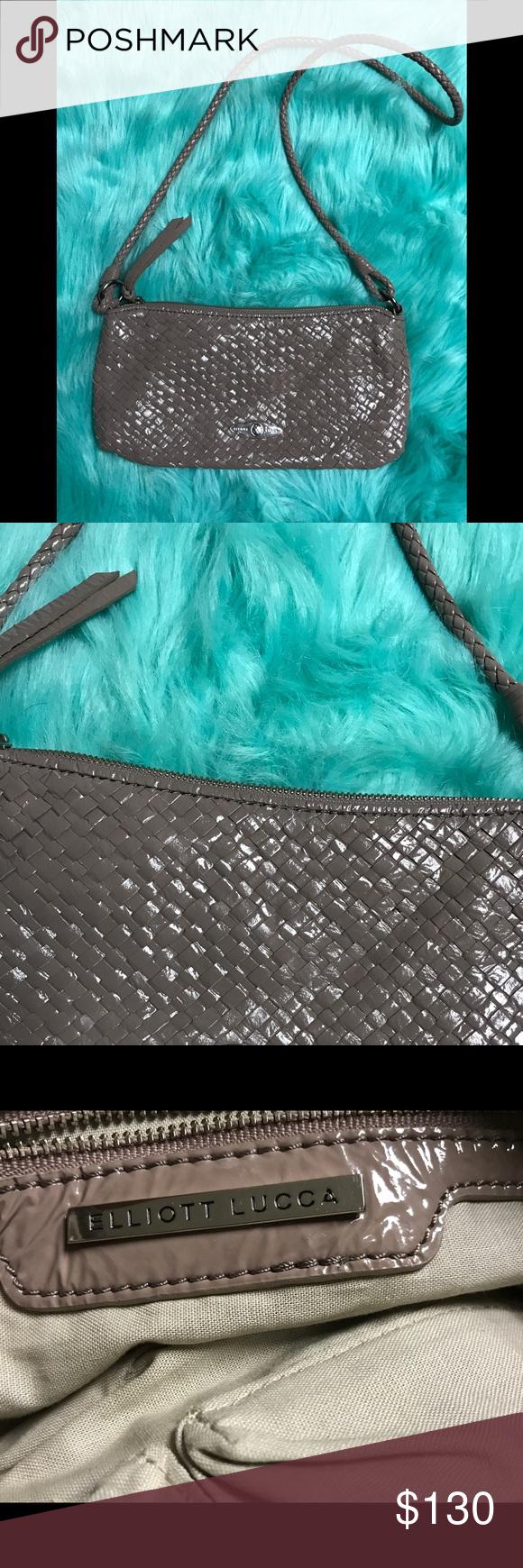 Elliott Lucca Purse Perwinkle Patent leather bag, Sleek