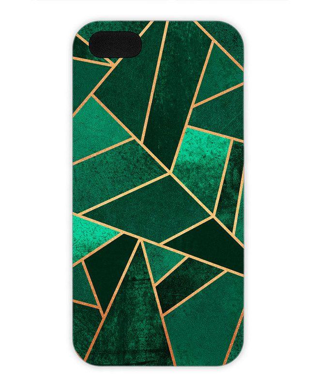 Emerald and Copper als iPhone 5/5S Hülle von Elisabeth Fredriksson | JUNIQE