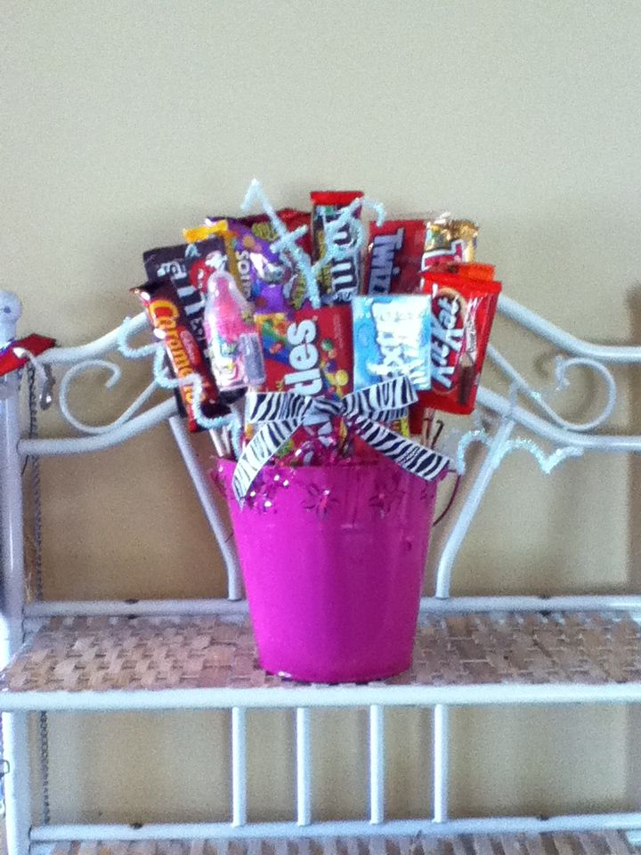 16th birthday gift made with sixteen different sweet things