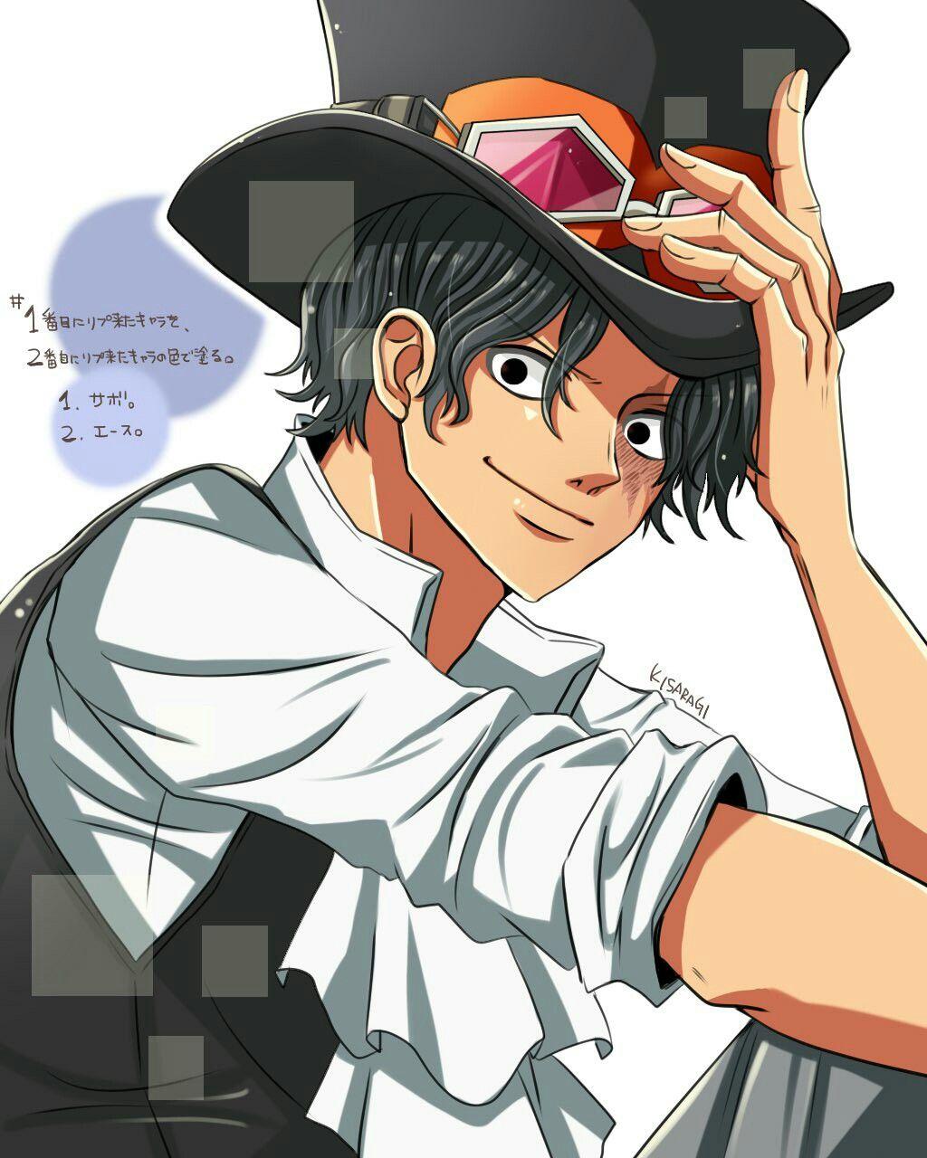 Sabo With Black Hair One Piece Ace Sabo One Piece One Piece Anime