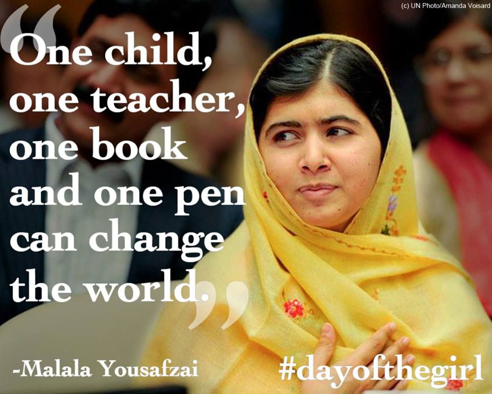 One Child One Teacher One Book And One Pen Can Change The World