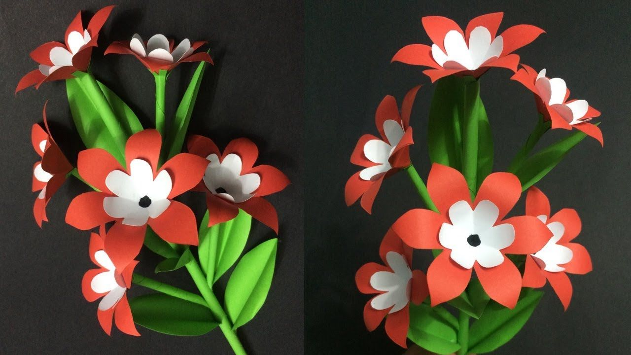 How To Make Beautiful Paper Flower Diy Paper Crafts Paper