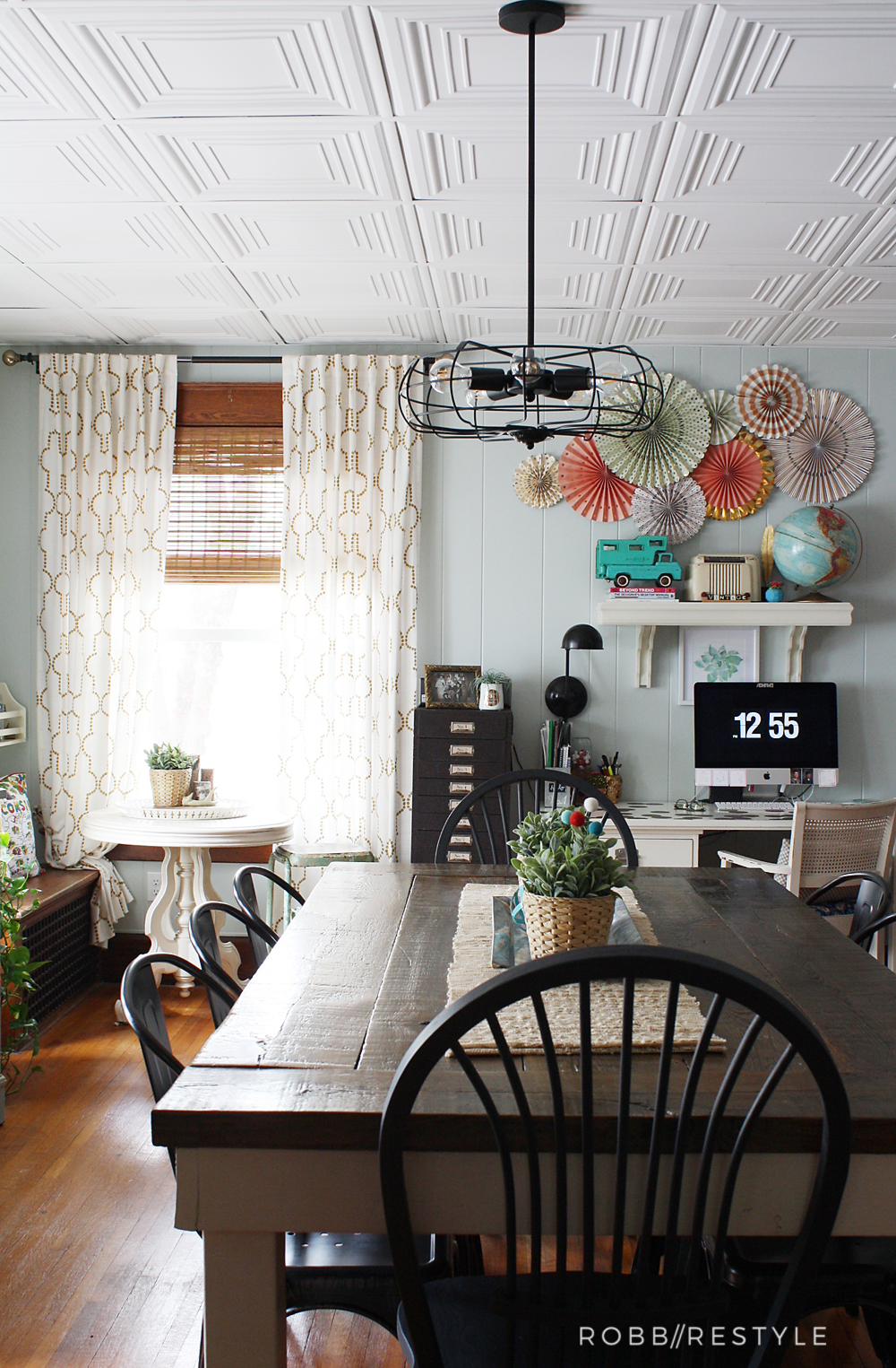 How To Easily Update An Ugly Drop Ceiling Diy Pinterest