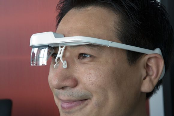 Hands on with Laster SeeThru, a direct augmented-reality challenge to Google Glass | TechHive