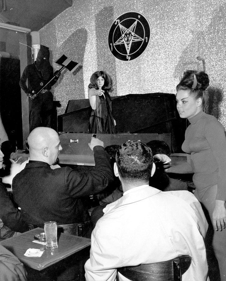 Signed By Diane LaVey Anton LaVey Photo Church Of Satan 1960s Satanic Satanism