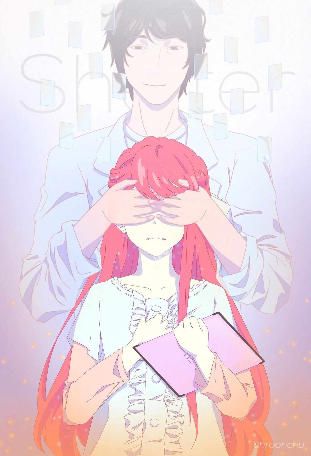 """Shelter has become my new obsession why is it so pretty aahhh Characters belong to Porter Robinson, Madeon, and Crunchyroll Composition inspired by """""""