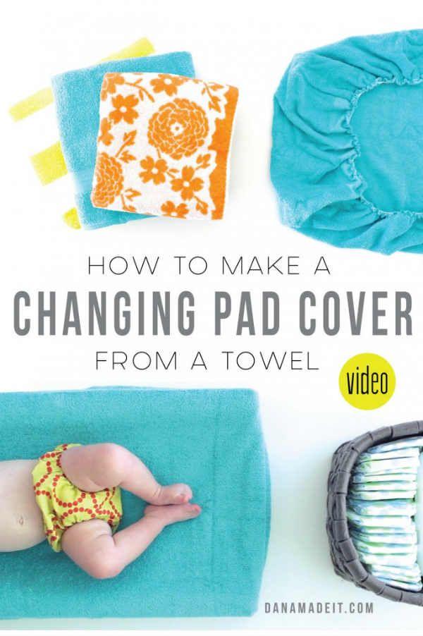 Fabriquer une housse de matelas à langer à partir d\'une serviette ...