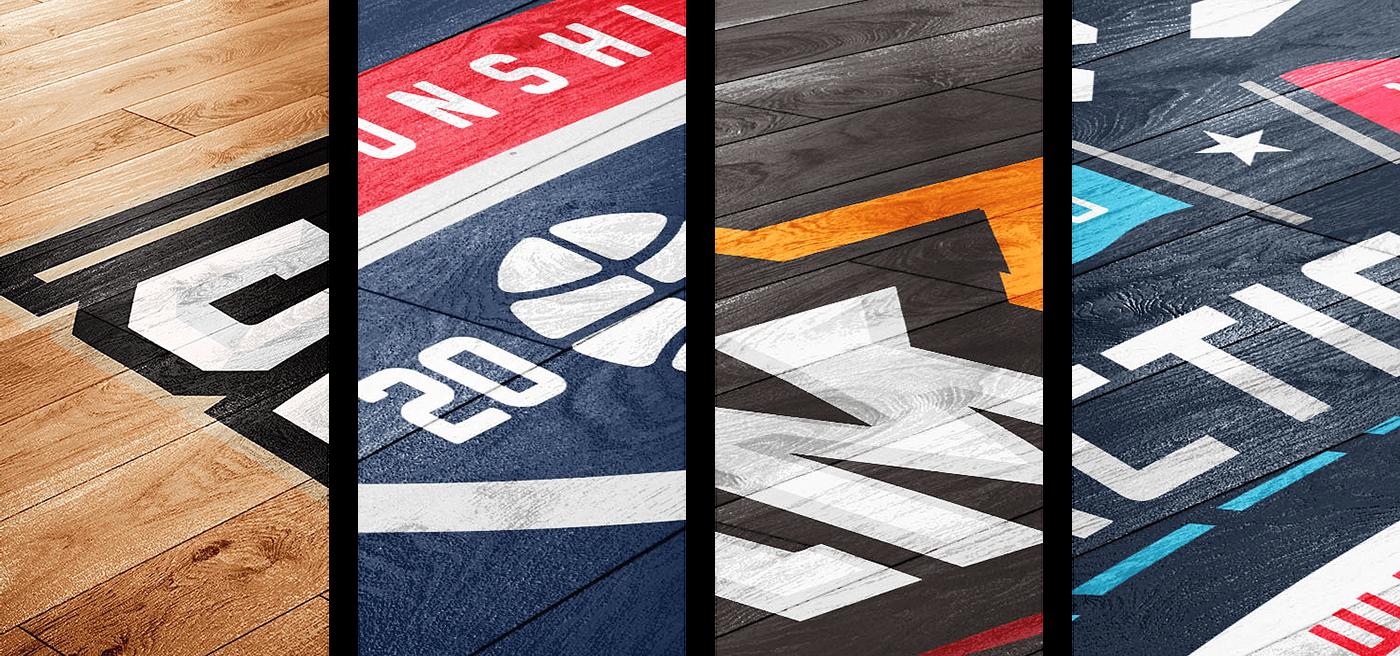 Download Basketball Court Logo Mockup On Behance Logo Mockup Floor Graphics Basket