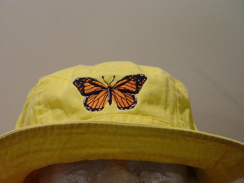 Denim Hats Dk Blue with Butterflys