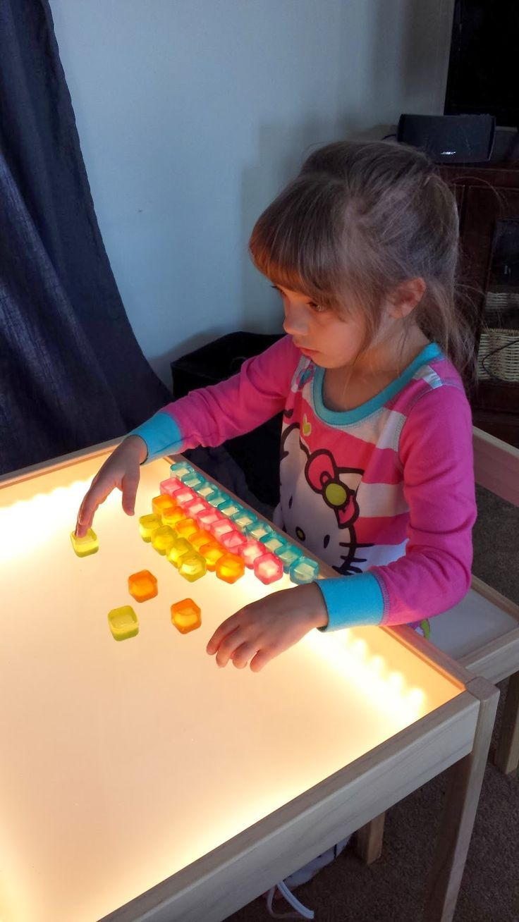 This diy light table is such a wonderful idea just think for Tavolo bambini ikea