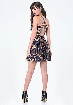 Print+Crisscross+Dress