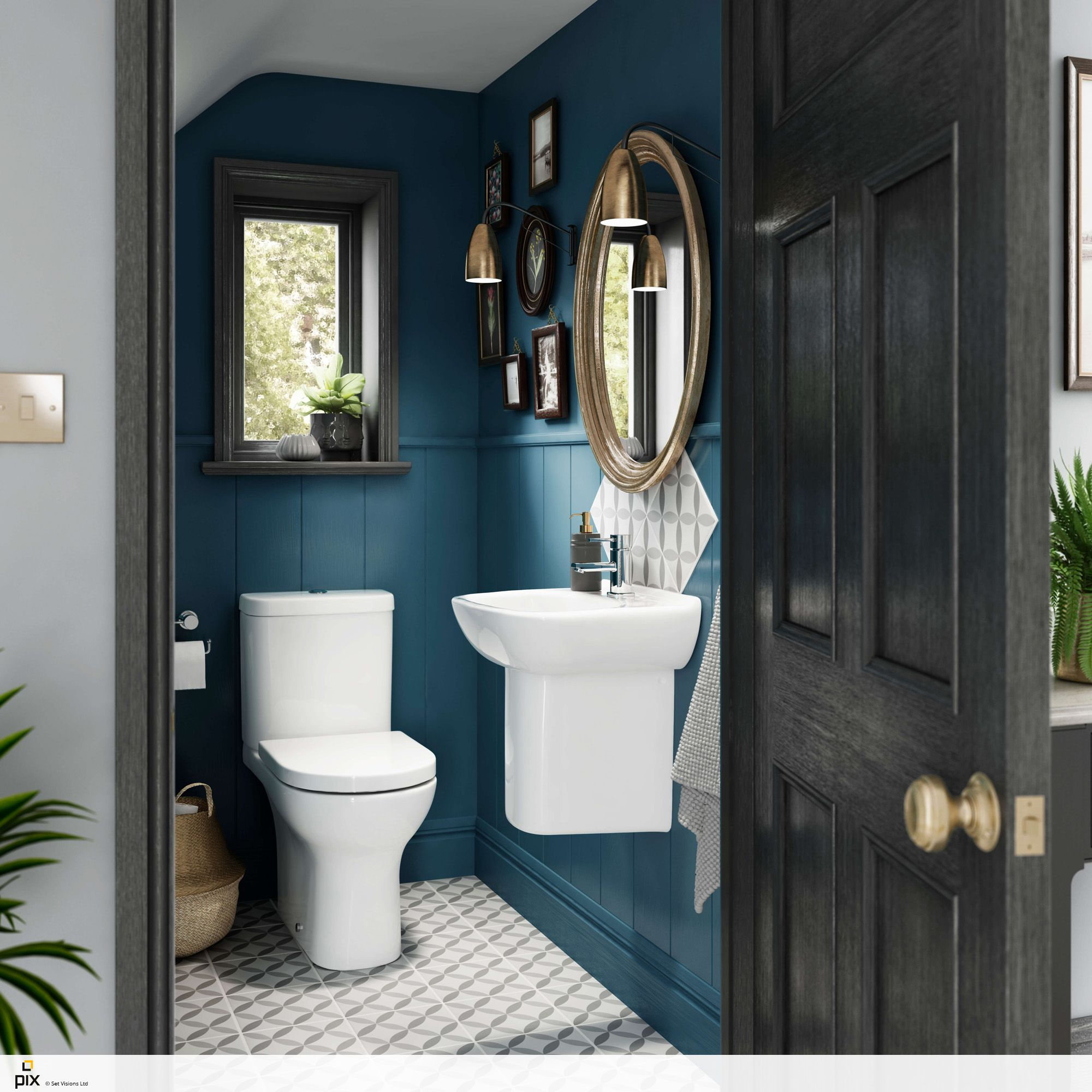 Quirky And Compact Under Stairs Cloakroom. The Deep Blue