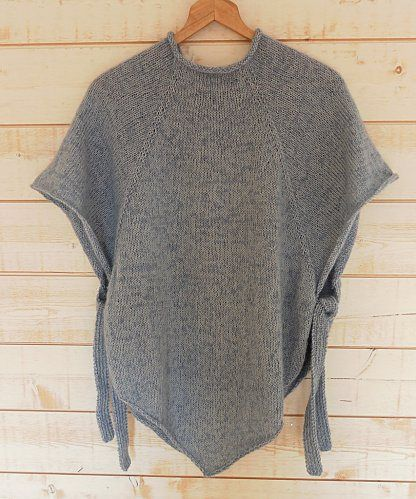 3310acb3a Top-down knitted poncho