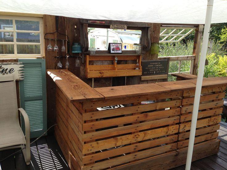 Les palettes en meuble | Bar, Pallets and Pallet projects