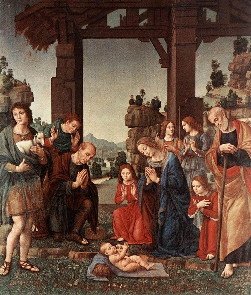 135. Lorenzo di Credi - Adorazione dei pastori - 1510 circa - Firenze, Uffizi
