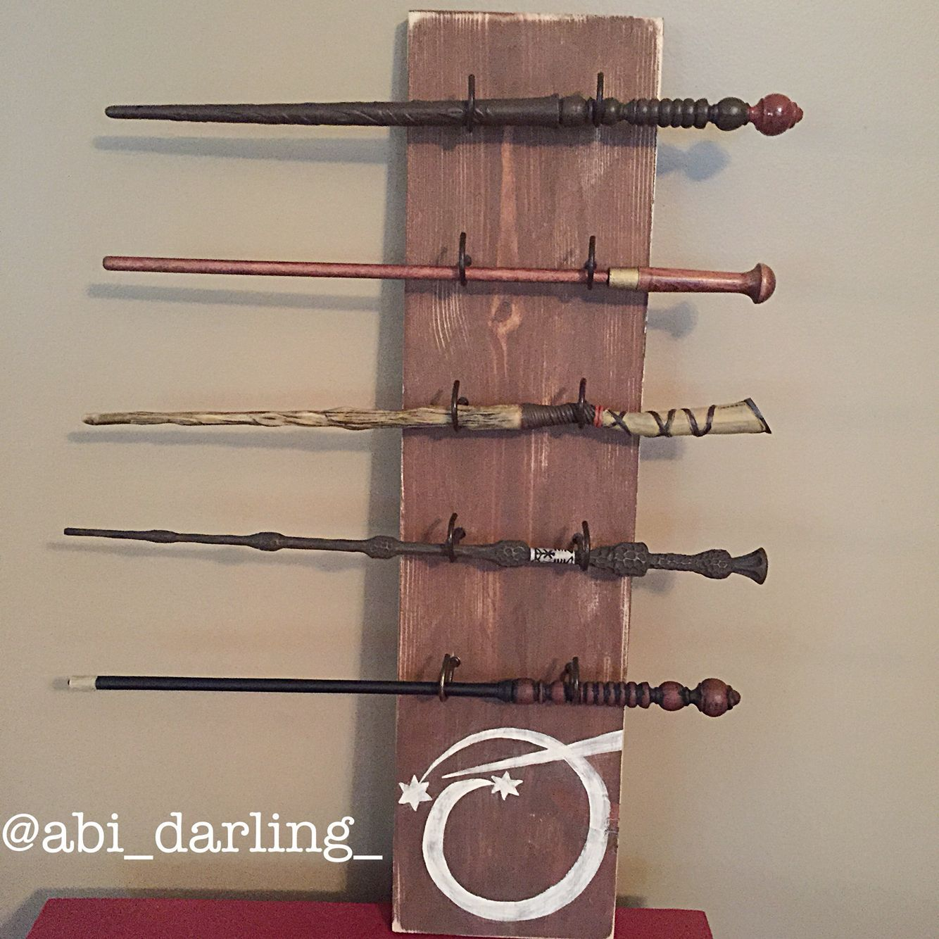 Diy ollivander wand display harry potter harry potter for Elder wand display
