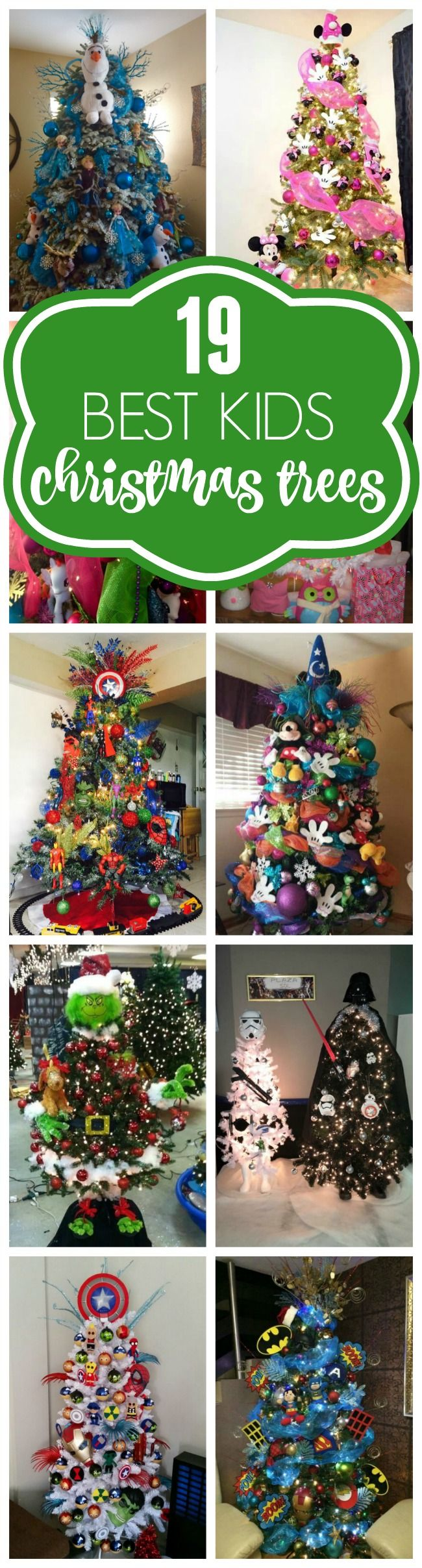 19 Most Creative Kids Christmas Trees Pretty My Party Party Ideas Kids Christmas Christmas Trees For Kids Disney Christmas Tree