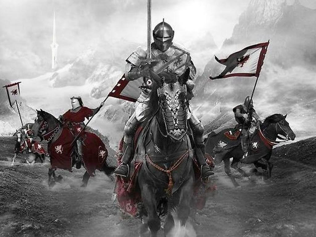 caballeros de epoca medieval -
