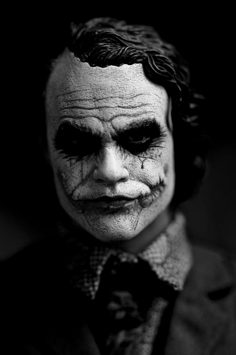 Black Joker Pic Black And White Photography