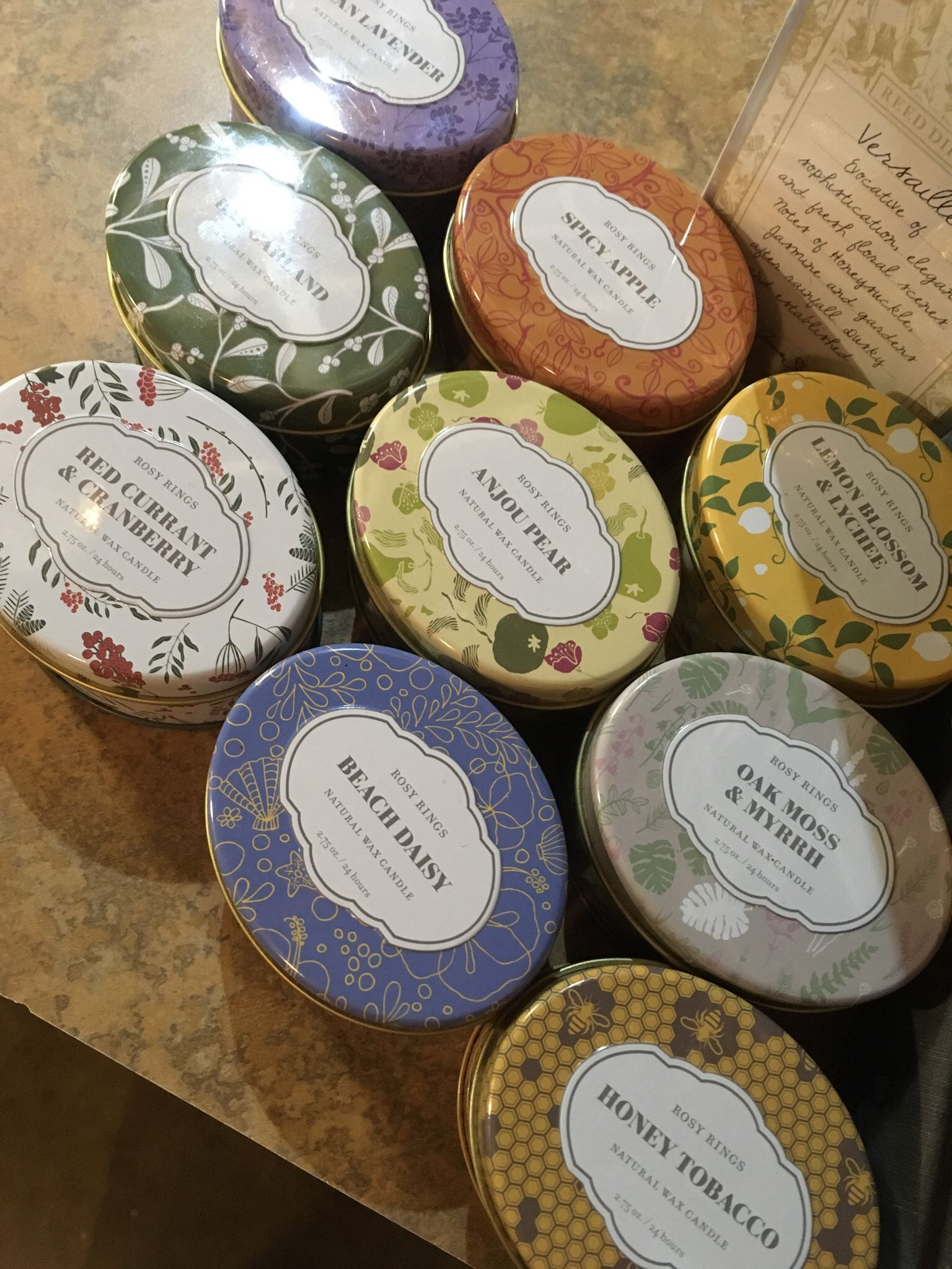 Rosy Rings Travel Tins - Great gifts! Comes with cute match packet  Auburn - $10