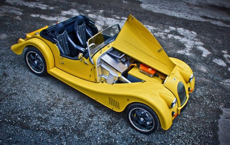 The Plus E electric sports car classic on the