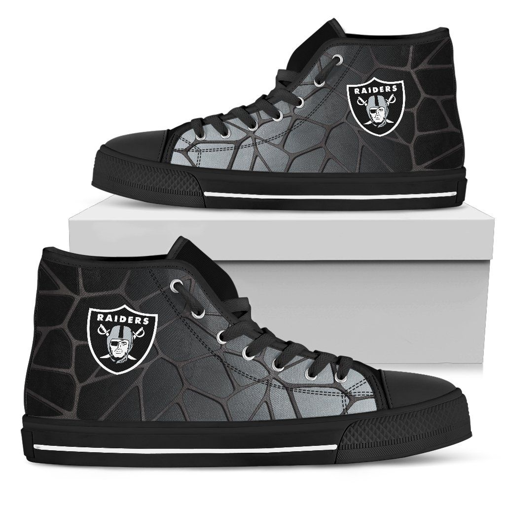 san francisco 24c14 deb06 Colors Air Cushion Oakland Raiders Gradient High Top Shoes ...