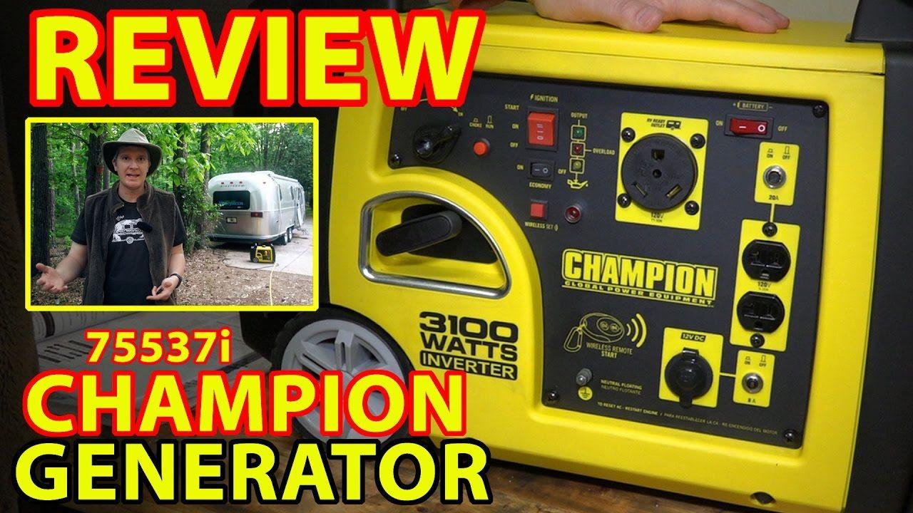 "REVIEW Champion 75537i ""RV Ready"" INVERTER GENERATOR"