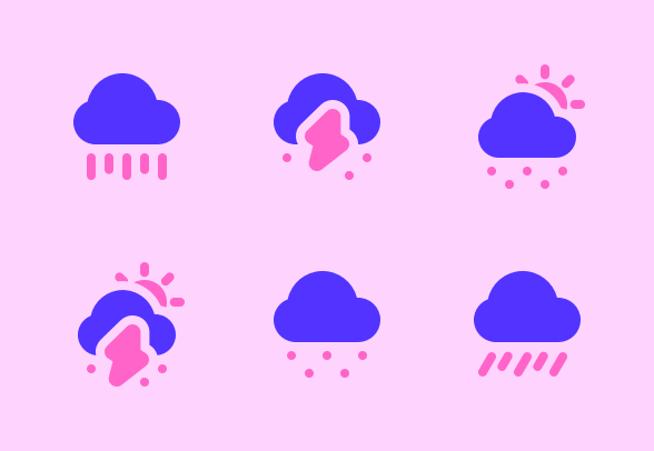 Weather Flat Icons By Braja Omar Justico In 2020 Cute App Weather Icons Flat Icon