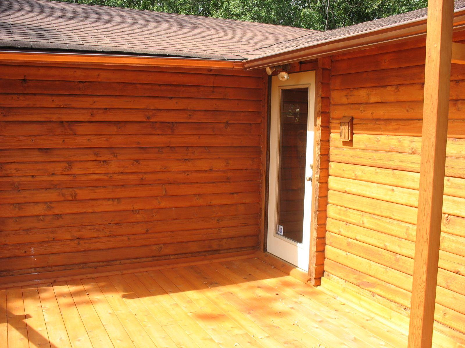 Large Log Cabin Restored With Deck Restoration Plus Medford Cedar Stain And Sealer Large Log Cabins Deck Restoration House In The Woods