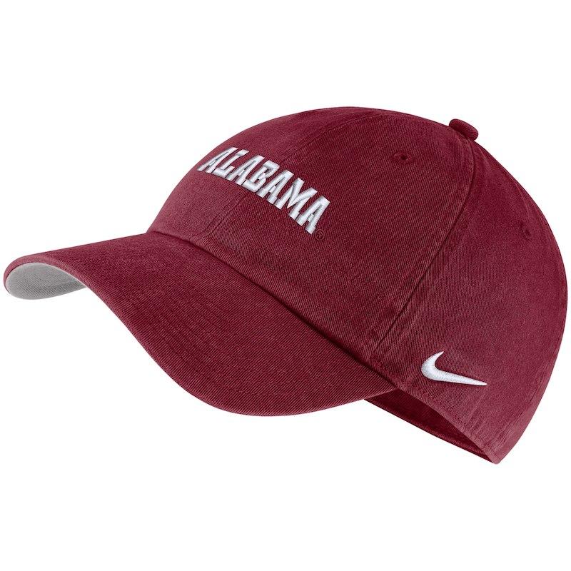 Alabama Crimson Tide Nike Heritage 86 Washed Wordmark Performance  Adjustable Hat - Crimson 818f005d52f3