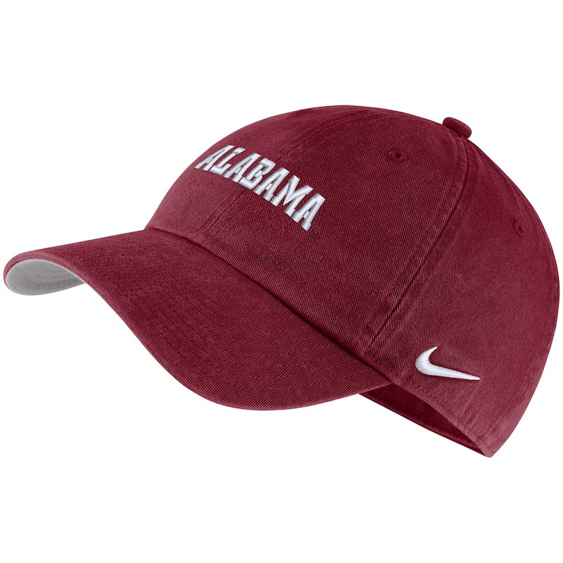 premium selection ab889 32515 Alabama Crimson Tide Nike Heritage 86 Washed Wordmark Performance  Adjustable Hat - Crimson