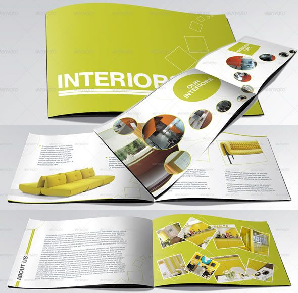 A Booklet Catalogue Brochure Layout Using Circles Design - A5 brochure template