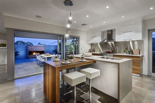 modern kitchen design small t shaped kitchen island white adjustable bar stool with steel legs on t kitchen layout id=12565