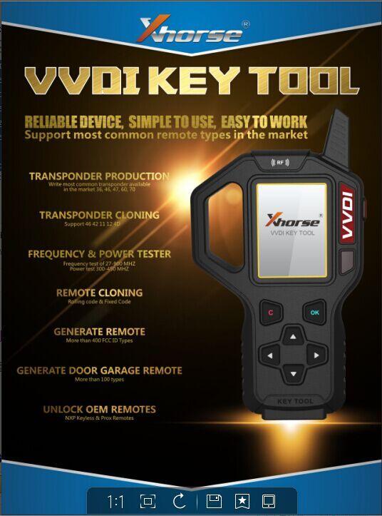 Original XHORSE VVDI Key Tool Remote Key Programmer Pre-Order!Still