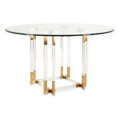 Safavieh Couture Koryn Dining Table In Brass Bed Bath Beyond Round Modern Glass