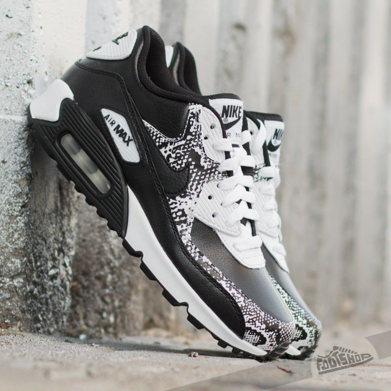 Blinged Womens Nike Air Max 90 Leather BLACK by
