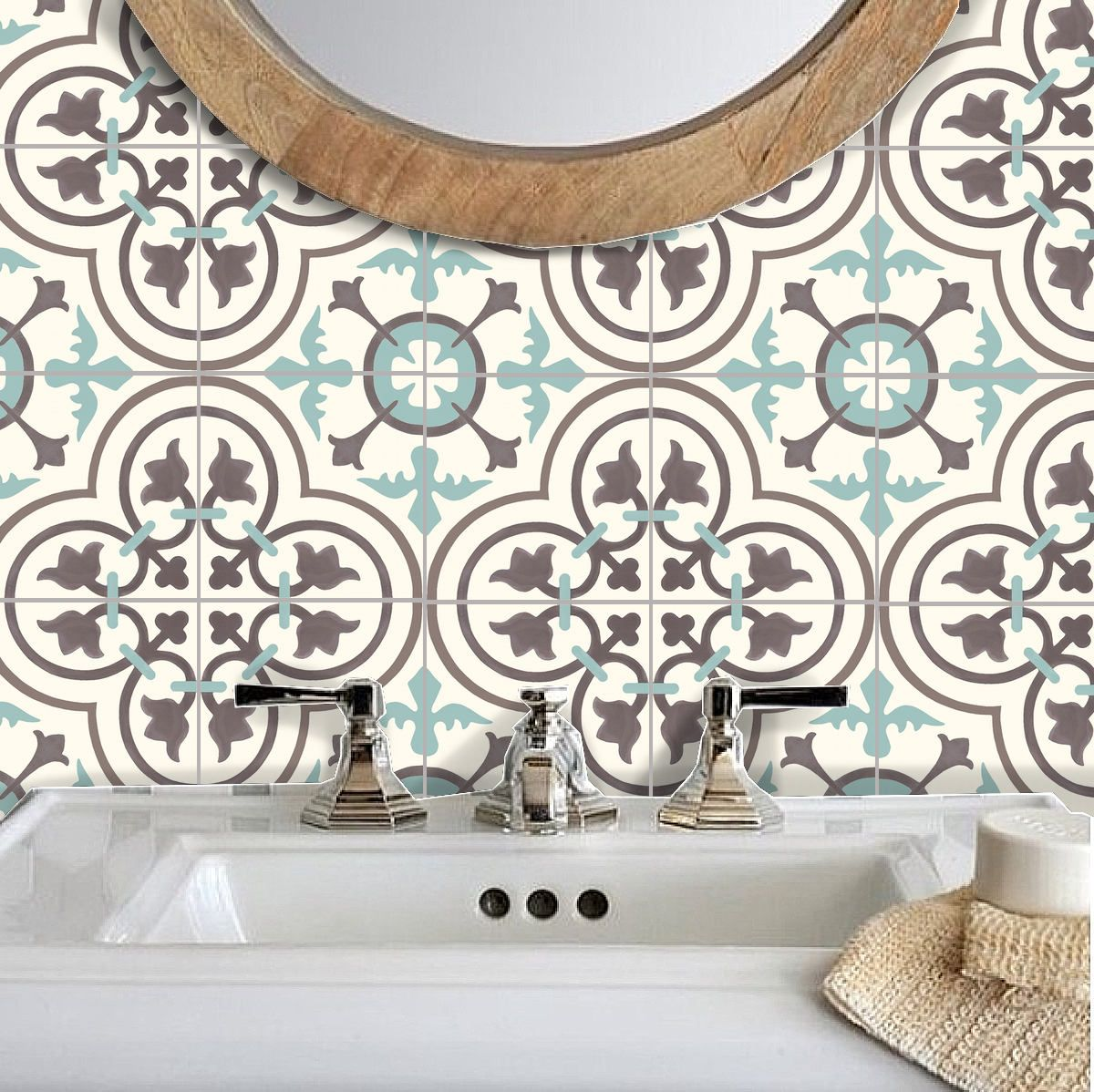 Tile Stickers Vinyl Decal WATERPROOF REMOVABLE for kitchen | Rugs ...