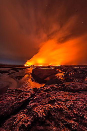 Island September 2014 - Ausbruch in Holuhraun by Einar Gudmann