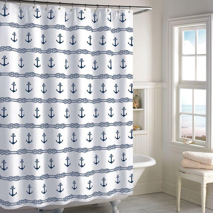Destinations Anchor Stripe Shower Curtain #affiliate | Bathroom ...