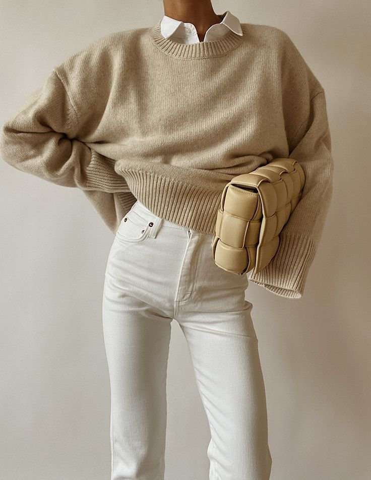 Try the Neutral Preppy Sweater Trend this Fall