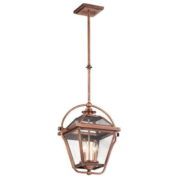 Kichler Lighting Ryegate Collection 2-light Antique Copper Indoor ...