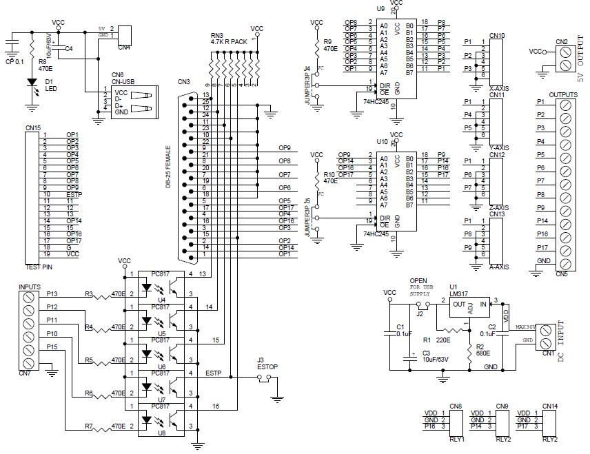 cnc thc wiring diagram