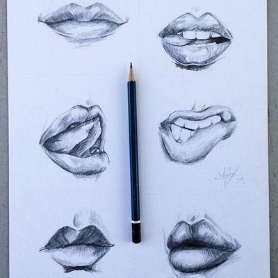 Lip Drawing   via Tumblr   rysunki   Pinterest   Drawings ...
