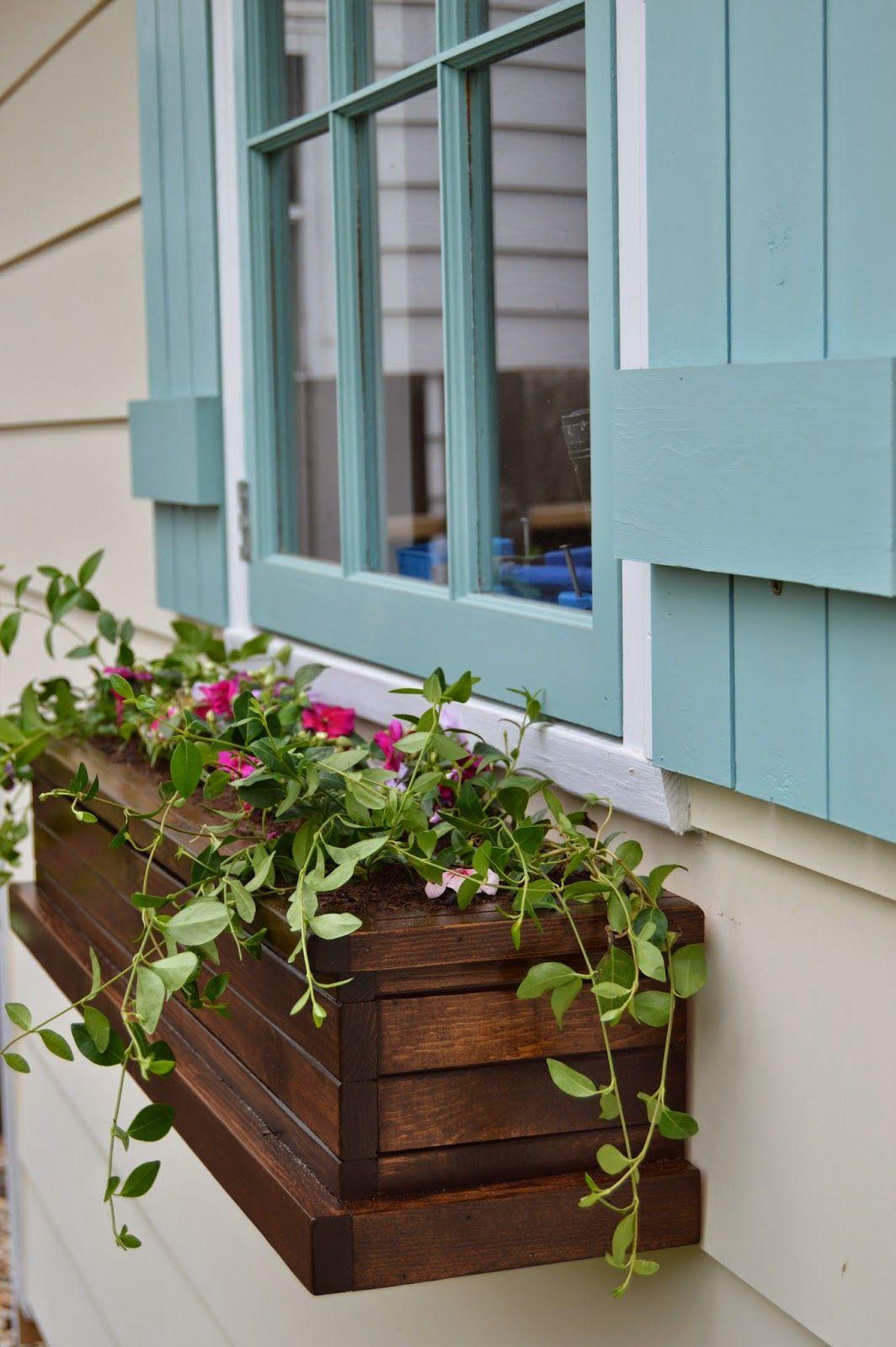 Kruse S Workshop How To Build Flower Boxes Diy Window Box Planter Window Planter Boxes Window Boxes Diy