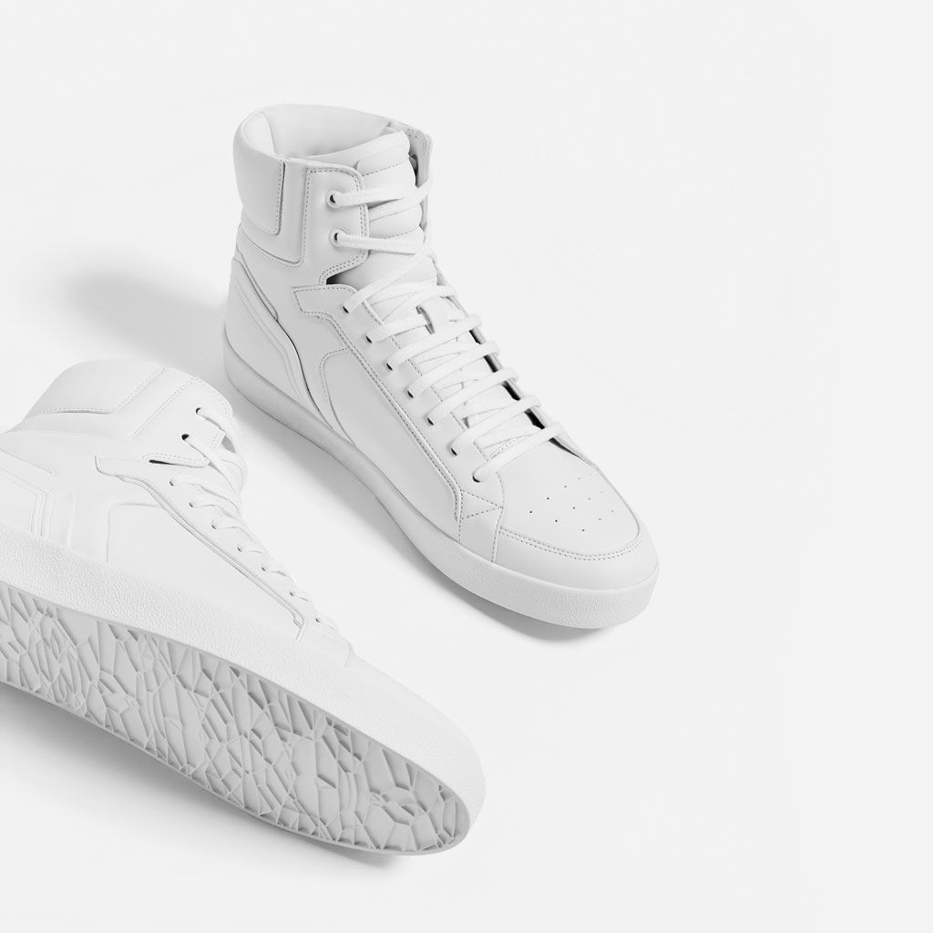 quality design 0d7ac 75dd4 WHITE HIGH TOP SNEAKERS