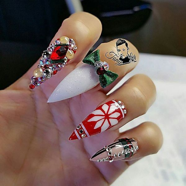 http://inkprofy.com/pointy-nails-designs/ | Stiletto nails long ...